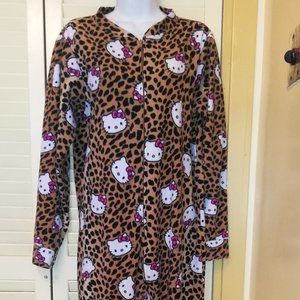 Hello Kitty Brown Footed Pajama PJ Medium
